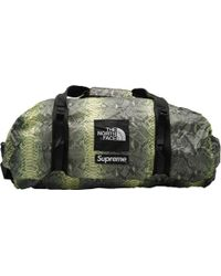 Supreme - The North Face Snakeskin Flyweight Duffle Bag Green - Lyst