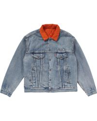 fd64ee85 Off-White c/o Virgil Abloh X Levi's Made & Crafted Trucker Jacket in Green  for Men - Lyst