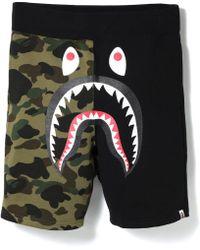 e382982a A Bathing Ape Sweat Shorts Black in Black for Men - Lyst