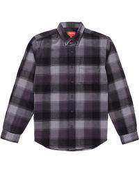 2a6af14145 Lyst - Saint Laurent Oversized Shadow Pocket Denim Shirt in Blue for Men
