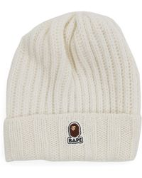 f69a9a73 A Bathing Ape Swarovski Crystal-embellished Wool Beanie in White for ...