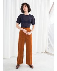 & Other Stories - High Waist Wide Corduroy Trousers - Lyst