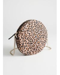 & Other Stories - Leopard Suede Circle Bag - Lyst