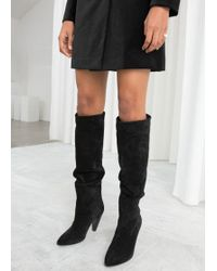& Other Stories - Knee High Suede Boots - Lyst