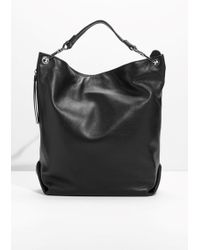 & Other Stories | Leather Hobo Backpack | Lyst