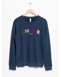 & Other Stories - Embroidered Fleece Sweatshirt - Lyst