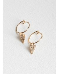 & Other Stories - Triangle Beam Hoops - Lyst