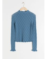 & Other Stories - Eyelet Knit Top - Lyst