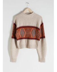 & Other Stories - Wool Blend Fairisle Jumper - Lyst