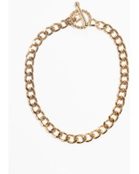 & Other Stories - Circle Bar Chain Choker - Lyst