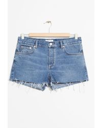 & Other Stories - Raw Hem Jeans Shorts - Lyst