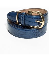 & Other Stories - Croco Leather Belt - Lyst
