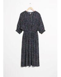 & Other Stories | Tie Wasit Midi Dress | Lyst