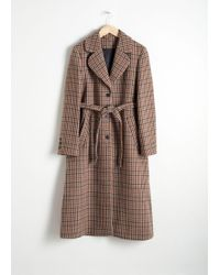 & Other Stories - A-line Wool Blend Belted Coat - Lyst
