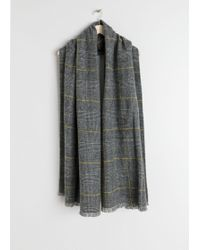 & Other Stories - Wool Plaid Scarf - Lyst