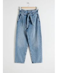 & Other Stories - High Belted Organic Cotton Jeans - Lyst