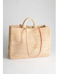 & Other Stories - Large Woven Straw Tote - Lyst