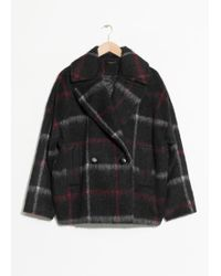 & Other Stories - Chequered Alpaca Coat - Lyst