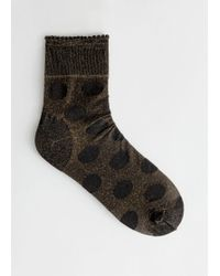 & Other Stories - Glitter Polka Dot Socks - Lyst