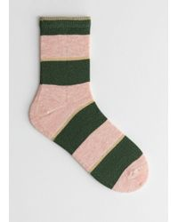 & Other Stories - Striped Glitter Ankle Socks - Lyst