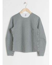 & Other Stories - Cotton Blend Houndstooth Top - Lyst