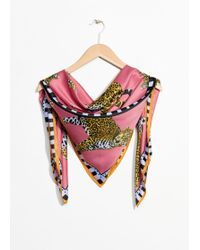& Other Stories - Leopard Print Scarf - Lyst