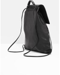 & Other Stories - Flap Leather Backpack - Lyst