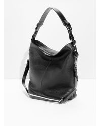 & Other Stories - Grain Leather Hobo Bag - Lyst