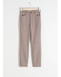 & Other Stories - High Waist Gingham Pants - Lyst