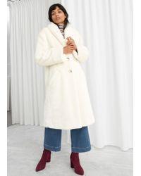& Other Stories - Sunshine Faux Fur Coat - Lyst