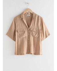 & Other Stories - Satin Workwear Button Up Shirt - Lyst
