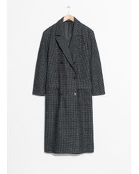 & Other Stories - Double Breasted Wool Coat - Lyst