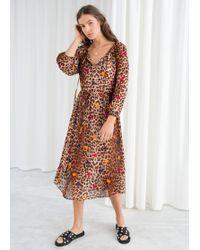 & Other Stories - Leopard Dot Kaftan Dress - Lyst