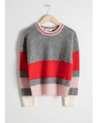 & Other Stories - Wool Blend Striped Jumper - Lyst