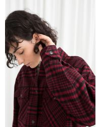 & Other Stories - Wool Blend Plaid Overshirt - Lyst