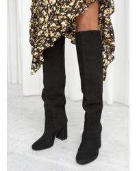 c7cccbdb5bf6 Lyst -   Other Stories Strap Ankle Boots in Black