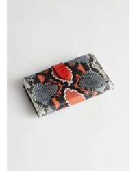 & Other Stories - Snake Print Leather Wallet - Lyst
