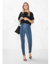 & Other Stories - Lace-up Denim Jeans - Lyst