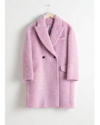 & Other Stories - Wool Blend Straight Coat - Lyst