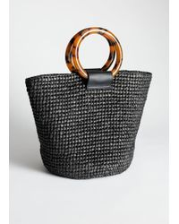 & Other Stories - Woven Straw Tote Bag - Lyst