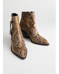 & Other Stories - Leather Cowboy Ankle Boots - Lyst