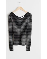 & Other Stories - Striped Long Sleeve Top - Lyst