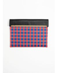 & Other Stories - Large Gingham Clutch - Lyst