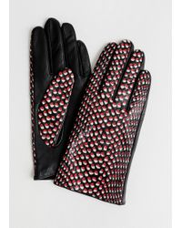 & Other Stories - Dotted Leather Gloves - Lyst