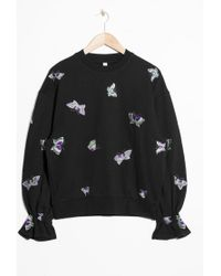 & Other Stories - Embroidered Sweatshirt - Lyst