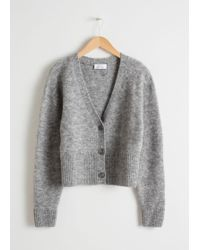 c05b55b4875b & Other Stories Long Wool Blend Cardigan in Gray - Lyst