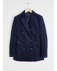 & Other Stories - Double Breasted Corduroy Blazer - Lyst
