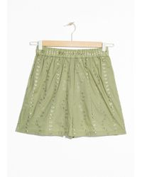 & Other Stories - Embroidered Butterfly Shorts - Lyst