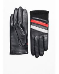 & Other Stories - Striped Leather Gloves - Lyst
