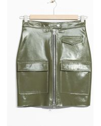 & Other Stories - Utilitarian Patent Leather Skirt - Lyst